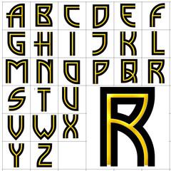 ABC Alphabet background madison square gold design