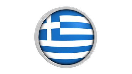 Greek flag with circular frame. Part of a series.