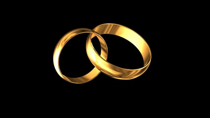 Wedding rings with the alpha channel