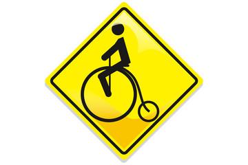 ciclista en la via