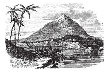 Pico Basile in Bioko Island, Republic of Equatorial Guinea, vint