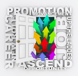 Promotion Door - Career Path Job Opportunity Opening for You poster