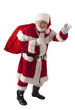 Santa waving to all girls and boys