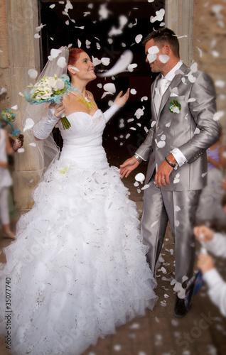 pétales de mariages