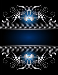 Background with silver ornament