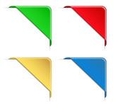Fototapety Colorful Vector Corner Ribbons