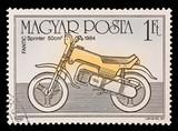 HUNGARY - CIRCA 1985:  Fantic Sprinter 50cm 1984 poster