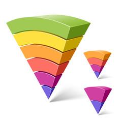 6, 4 and 2-layered pyramid shapes