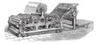 Hoe web perfecting press vintage engraving