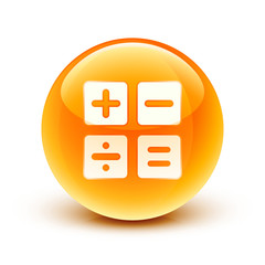 icône calculatrice finance / calculator icon