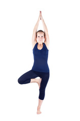 Yoga vrikshasana tree pose