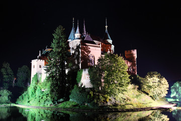 Haunted castle - Bojnice, Slovakia at night.