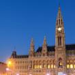 Vienna's City Hall at sunrise