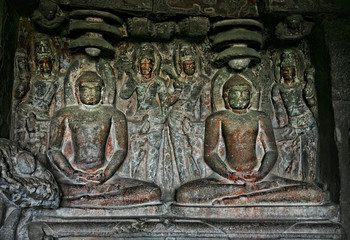 Buddhist statue in Ellora Caves
