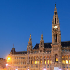 Vienna's City Hall at sunrise