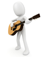 3D Render of a Man with Guitar