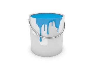 Farbeimer, Farbtopf cyan / paint pot