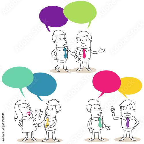Geschäftsleute, Gespräche