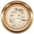 Deutschland Kompass kupfer