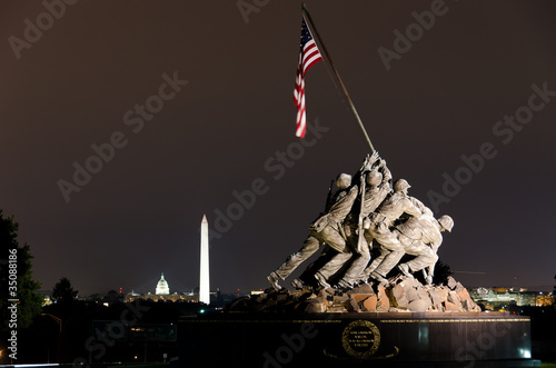 Fotobehang Historisch mon. US Marine Corps Memorial in Washington DC USA