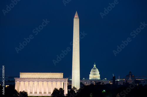 Washington DC night scene