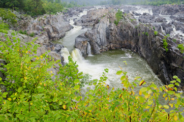 Great Falls on Potomac River in Virginia USA