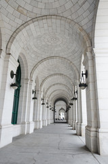 Columns of Union Station in Washington DC USA © Orhan Çam