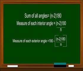 math equation on blackborad