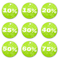 Sale tags (green)