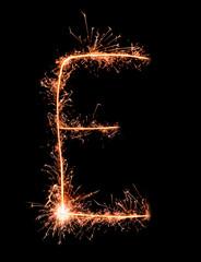 Letter E. Real sparkler alphabet