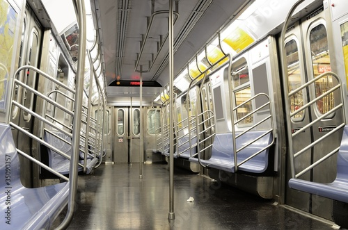 Empty Subway Car - 35090357