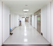 Hospital surgery empty corridor