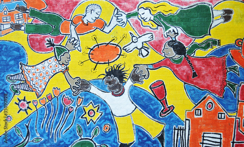 Fototapeten,peace,graffiti,zeichnung,aktiv