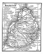Map of Mauritius vintage engraving