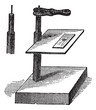 Microscope simple, vintage engraving.