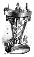 Machine reel, vintage engraving.