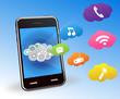 ベクター、スマートフォンとアプリケーション