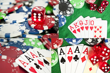 Poker collection of conceptual images