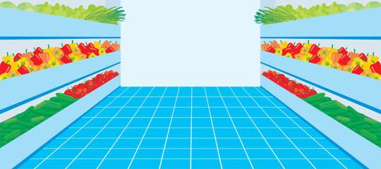 Supermarket. A vegetable number. vector.