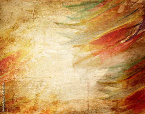 Staande foto Textures Skeleton leaves grunge background