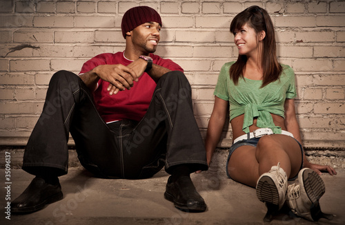 Night Couple Portrait - Sitting