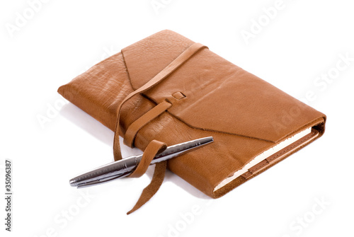 Leather Notebook and Pen