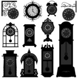 Fototapety Clock Time Antique Vintage Ancient Classic Old Traditional Retro