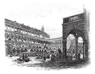 Province of Padua in Veneto Italy vintage engraving