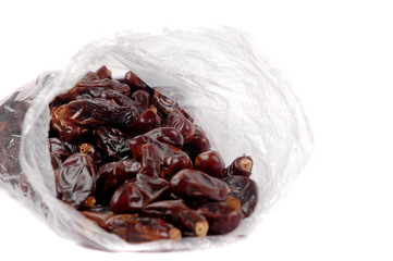date palm fruit in a plastic bag packaging