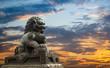 Fototapete Statuen - Sonnenuntergang - Andere