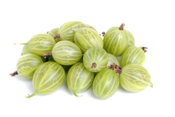 Some gooseberry isolation  on a white background
