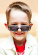boy wearing sunglasses