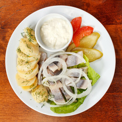 Matjes with Potatoes and Mayonnaise