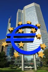 Eurozeichen und Europäische Zentralbank